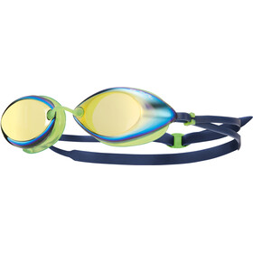 TYR Tracer Racing Mirrored Goggles Gold/Green